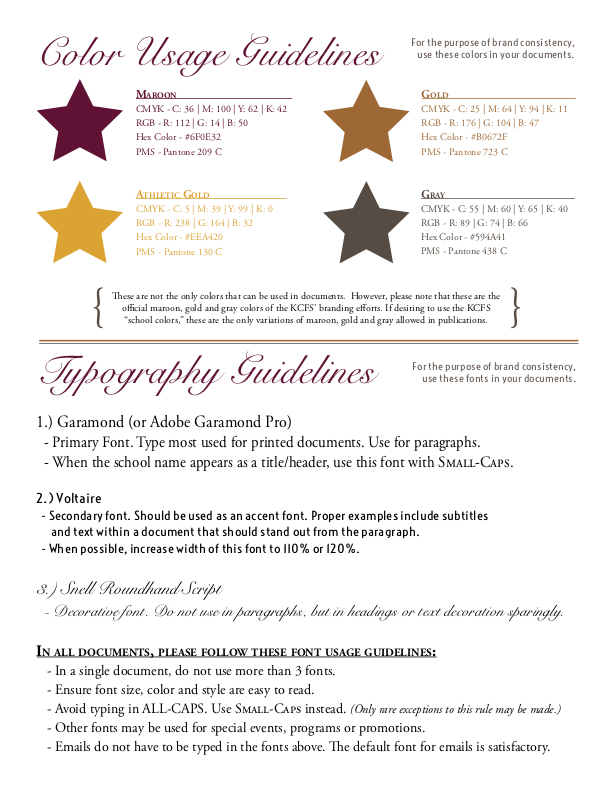 KC Style Guide Pages 1